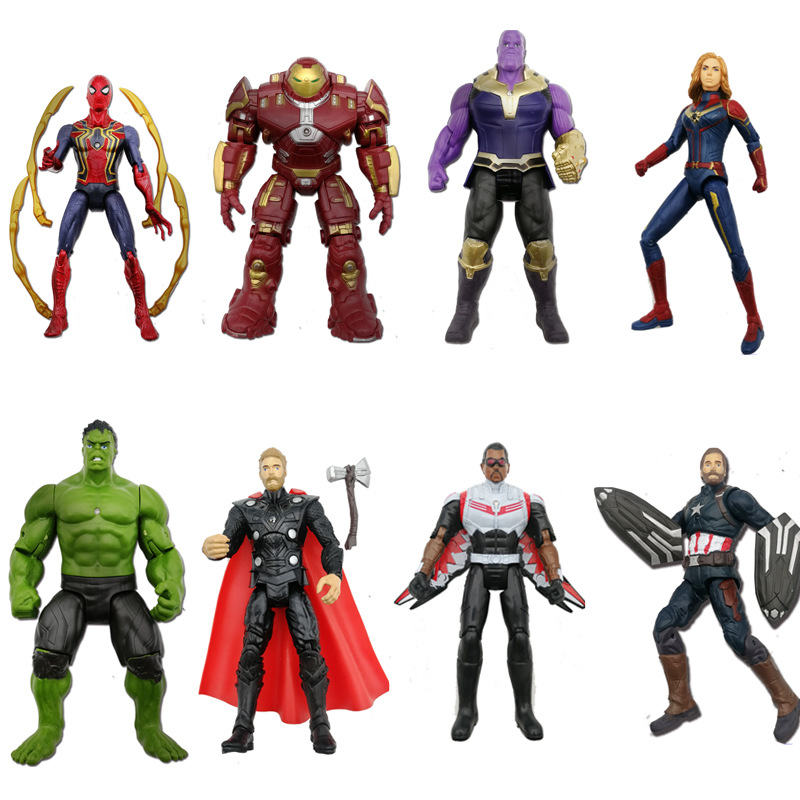New Marvel Avengers Endgame Thanos Spiderman Hulk Iron Man Captain America Thor Wolverine Action Figure Toys Dolls for KidNew Marvel Avengers Endgame Thanos Spiderman Hulk Iron Man Captain America Thor Wolverine Action Figure Toys Dolls for Kid