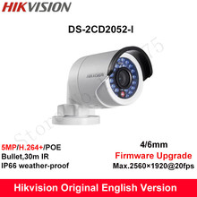 In Stock Hikvision English Security Camera DS-2CD2052-I 5MP CCTV Camera P2P IP outdoor Camera POE Mini Bullet Camera IP66
