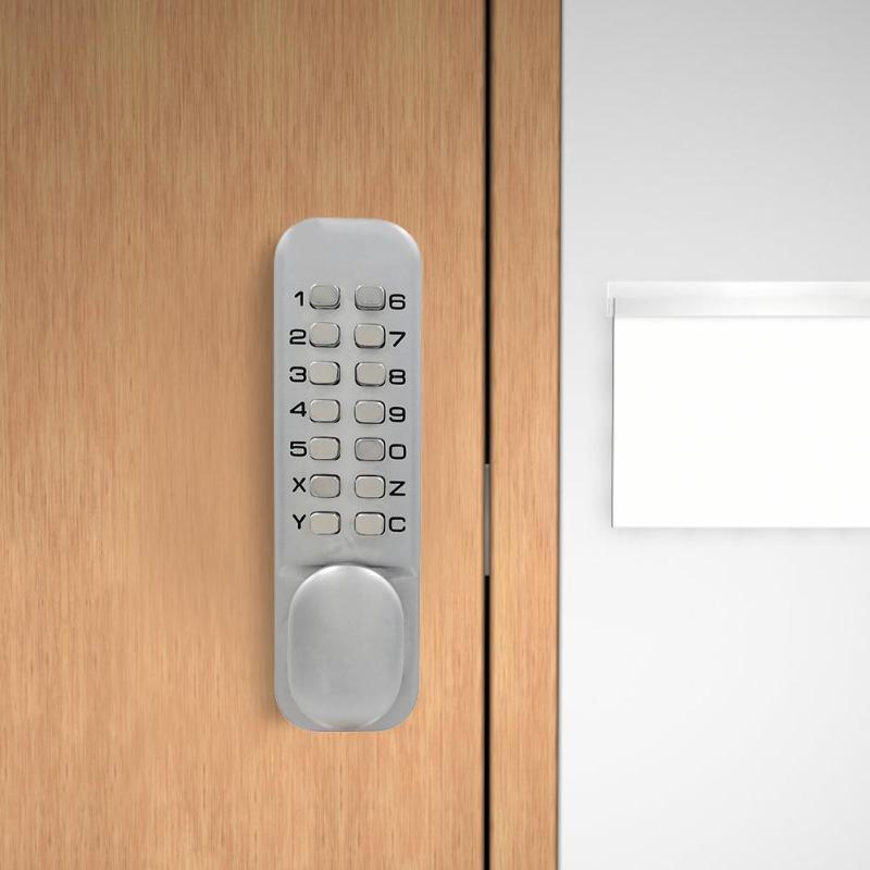 Водостойкий цинковый сплав без ключа дверной замок механический код Клавиатуры Пароль замок безопасности кнопочный код замки для дома