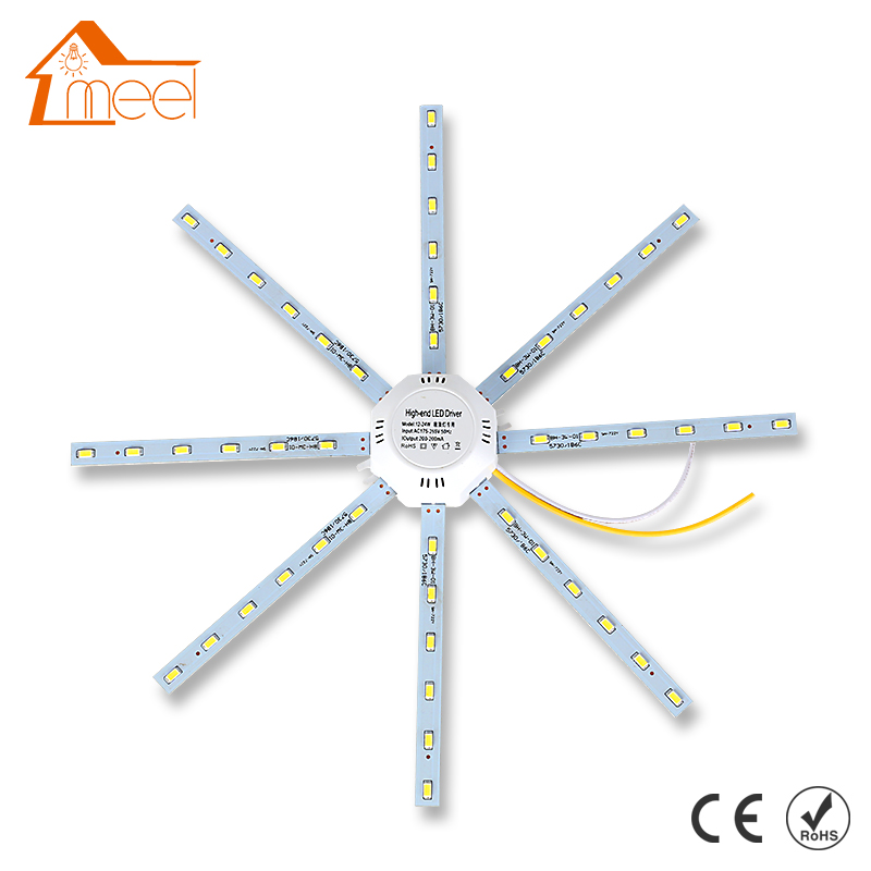 LED Ceiling Lamp Octopus Light 12W 16W 20W 24W LED Light Board 220V 5730SMD Energy Saving Expectancy LED Lamp Indoor Lighting boutique winter new women pu leather coat fashion fox fur collar down cotton women leather mid length slim fur jacket odfvebx