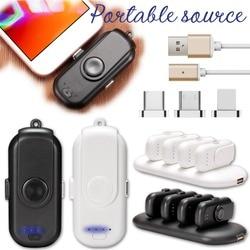 Banco de potência magnético mini dedo de emergência de energia móvel magnético portátil móvel carregamento rápido bateria externa