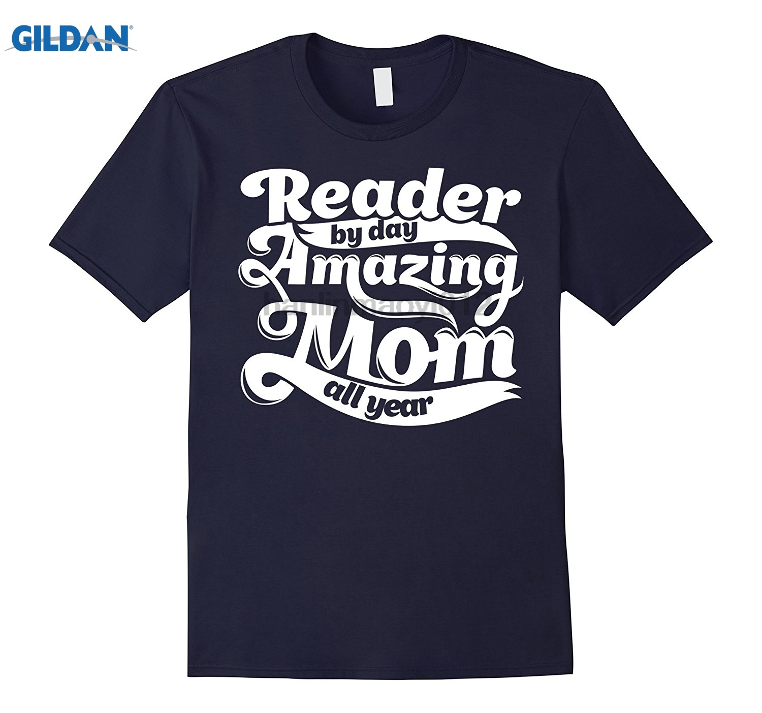 GILDAN Reader Amazing Mom - Mothers Day Gift T-Shirt glasses Womens T-shirt ...
