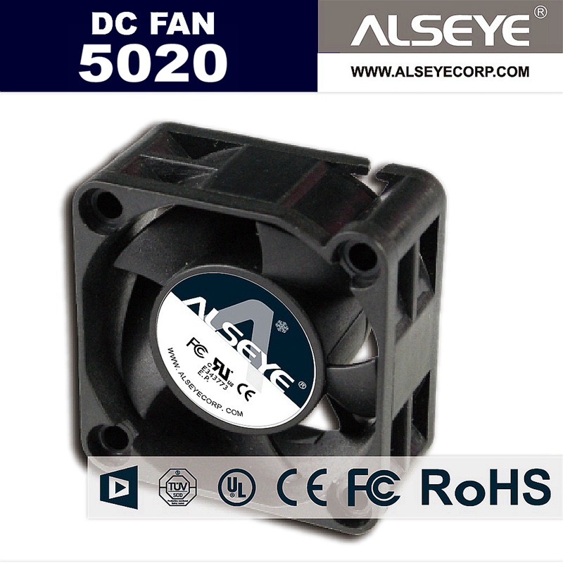 ALSEYE 50mm fans Mini cooler fan radiator Electrical DC 12v 6000RPM high performance ball bearing fan cooling 50x50x20mm computador cooling fan replacement for msi twin frozr ii r7770 hd 7770 n460 n560 gtx graphics video card fans pld08010s12hh