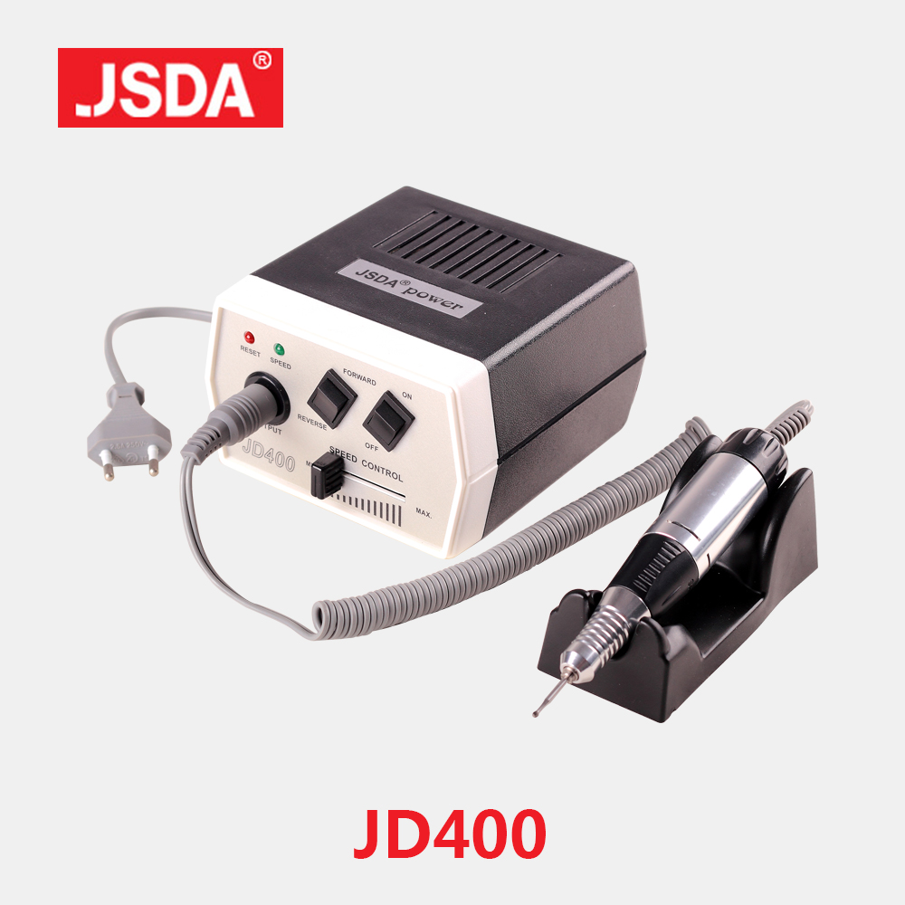 Venta directa JSDA JD400 35w Nails Art Equipment Manicure Machine Pedicure Grinding Tool Bit File Taladros eléctricos para uñas 30000rpm