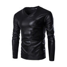 2018 Spring Autumn Solid Casual Men T Shirts Long Sleeve O-neck Slim T-shirts Hot Sale New Brand Tops