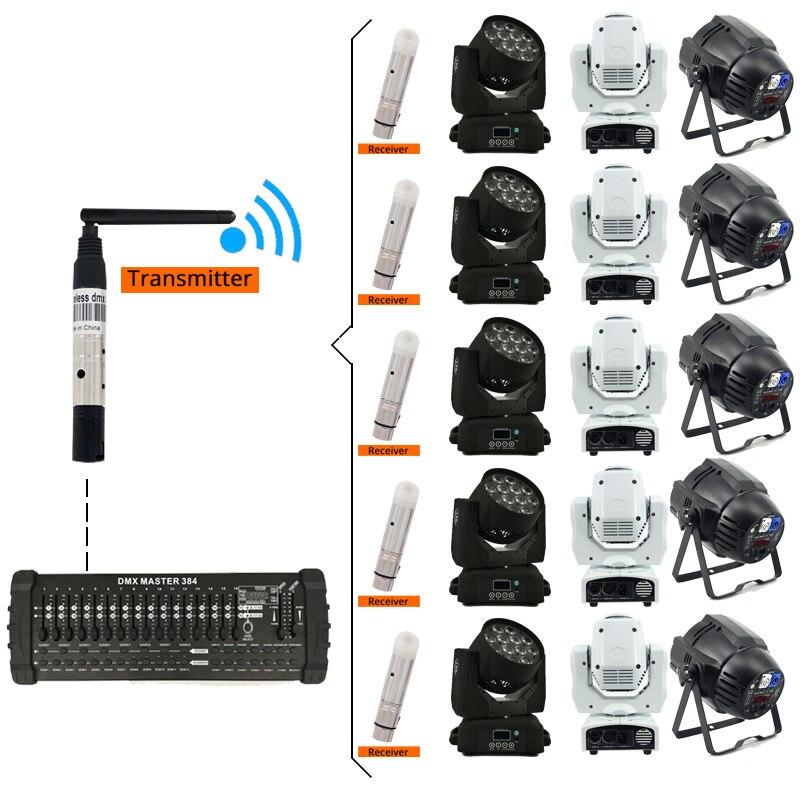 Купить с кэшбэком DMX512 Wireless DJ Disco Light DMX Laser Light 300m Controller Receiver or Transmitter 2.4G for LED stage light LED light