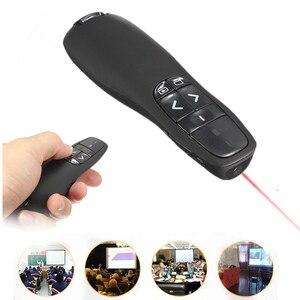 Image 5 - Leory R400 Không Dây PPT Điều Khiển Từ Xa 2.4G USB Di Động Cầm Tay Người Dẫn Chương Trình Từ Xa Bằng Tia Laser Màu Đỏ Bút Lật Trang Cho PowerPoint Giá Sỉ