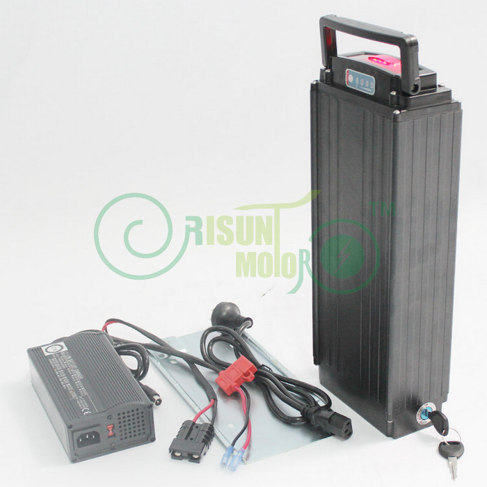 48V 15.4AH Electric Bike Rear Carrier Li-ion Battery For OEM18650-H22P Cell With Flat Aluminium Case 5A Charger and BMS diy 48v 1000w samsung cell electric bike lithium battery 48v 30ah li ion 18650 battery with 30a bms for e bike battery