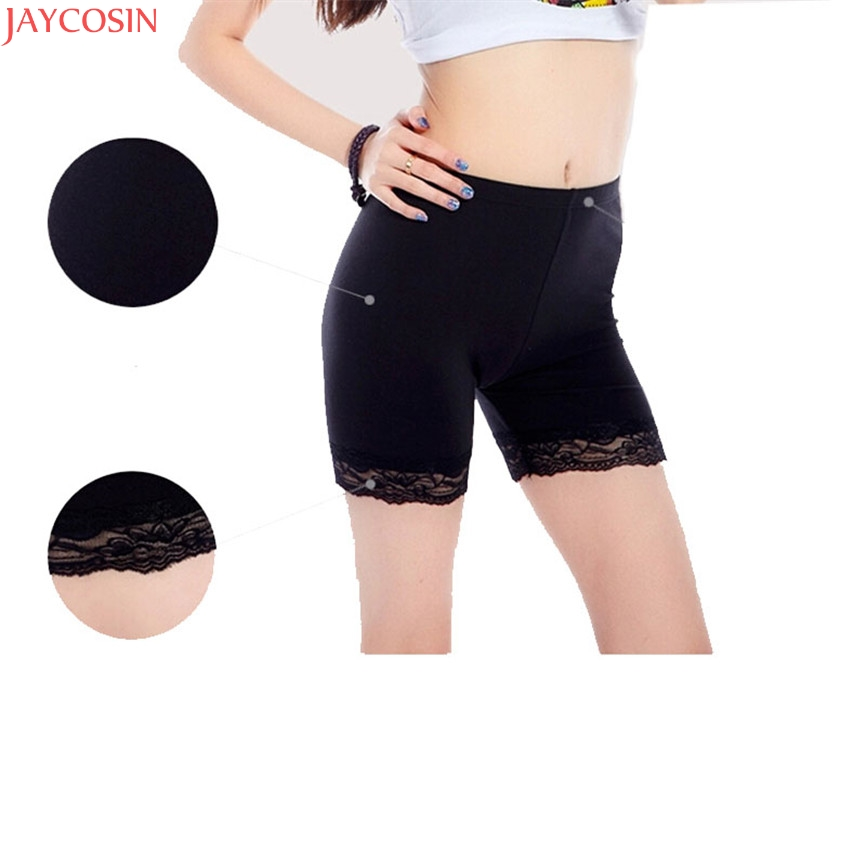 2018 New Fashion Sexy Women Summer Grils Sweet Lace Trim   Leggings   Drop Shipping