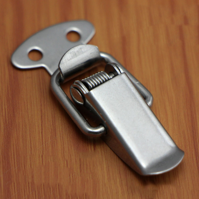 6Pcs Spring Loaded Suitcase Chest Tool Box Locking Toggle Latch Hasp Lock Hardware