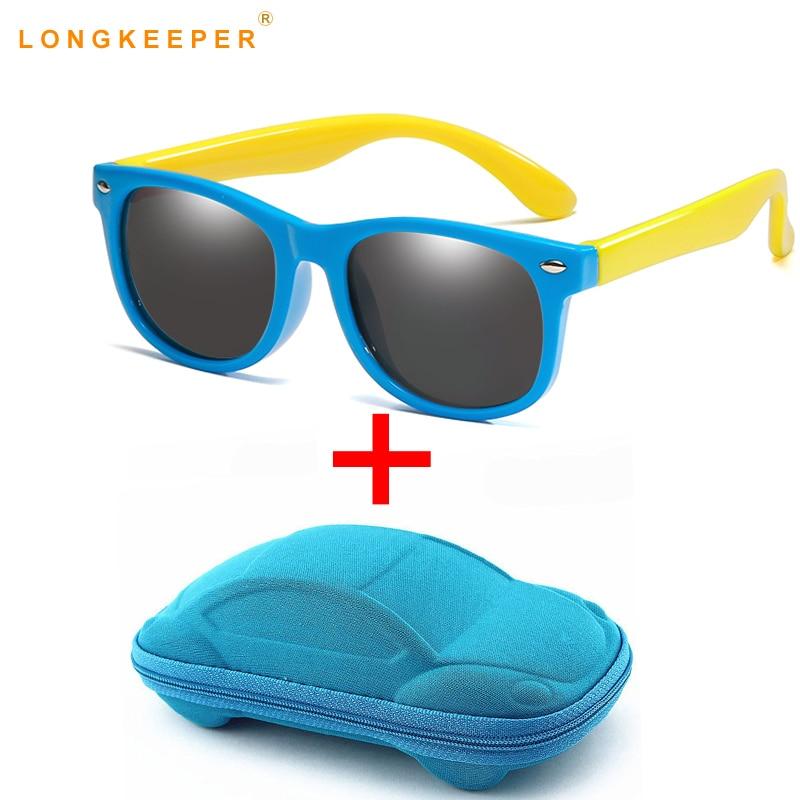 2-10 Jahre Kinder Sonnenbrille Mit Fall Jungen Mädchen Polarisierte Gummi Silikon Sicherheit Sonnenbrille Geschenk Für Kinder Baby Uv400 Gafas Mit Dem Besten Service