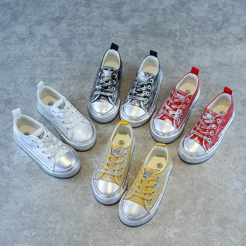 Children Canvas Shoe 2018 Fall New Catamite Skate Kids Boys Girls Shoes For Ventilation Girl Cloth Shoe