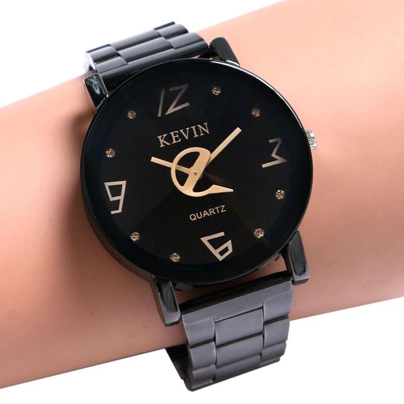 137ad49d28c0 Кевин 2016 Горячие Люкс Часы наручные мужские наручные часы из нержавеющей  стали Повседневная мода Бизнес Мужские часы Кварцевые Relogio Masculino