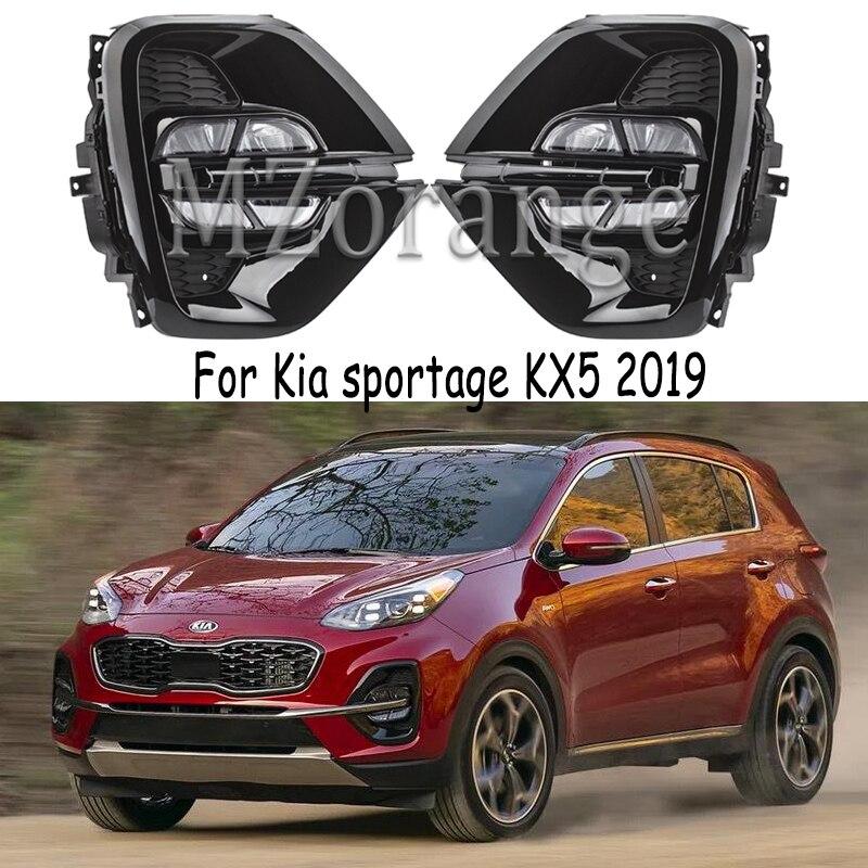 For Kia Sportage 2019 2020 Led Headlight DRL For Kia KX5 2019 2020 LED Fog Lights Headlights Cover Fog Light Foglights Fog Lamps