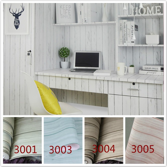 Self Adhesive Wood Grain Wallpaper L Wallstick Oil Waterproof Vinyl Tile Wall Paper For Kitchen Bathroom Door 5meters Roll