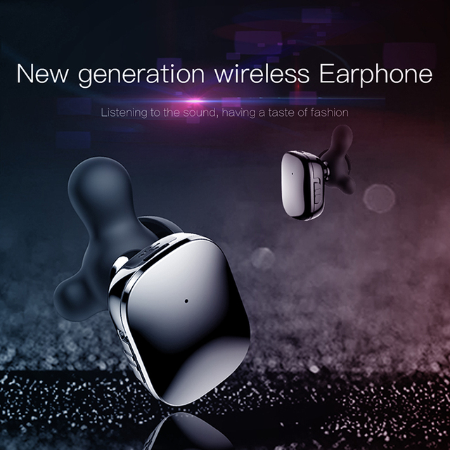 Baseus W02 TWS Bluetooth Earphone Wireless Earbuds with Microphone