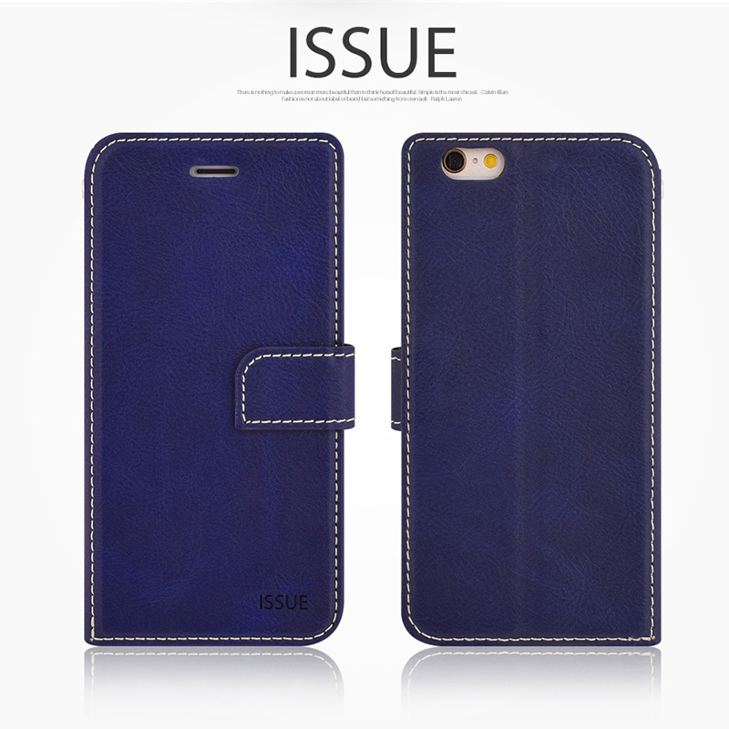 Molan Cano Card Pocket Wallet Flip Phone Case For iPhone 6 6S 7 8 Plus X PU Luxury Holder Leather Bags With Magnetic Buckle