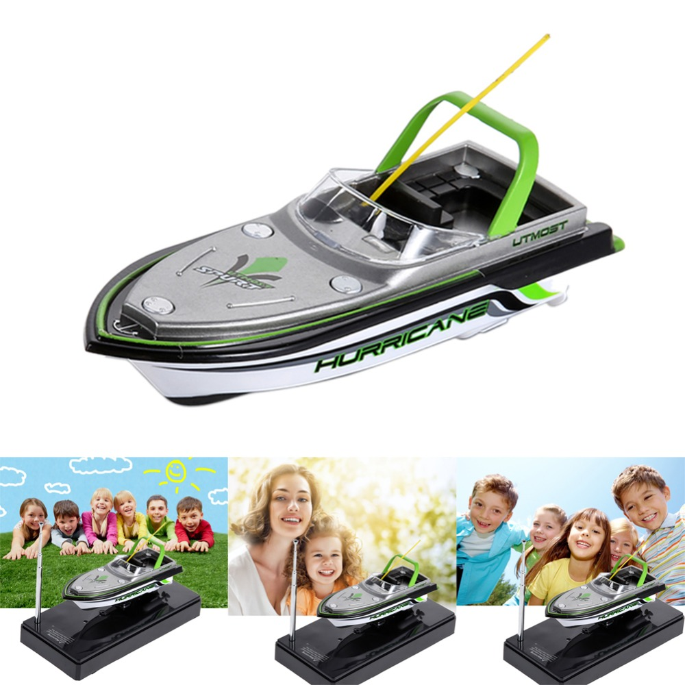 Radio Remote Control RC Boat Ready-to-Go Super Mini Speed Boat Dual Motor Electric RC Anti-upset Boat RC Toys Children Kids Toys image