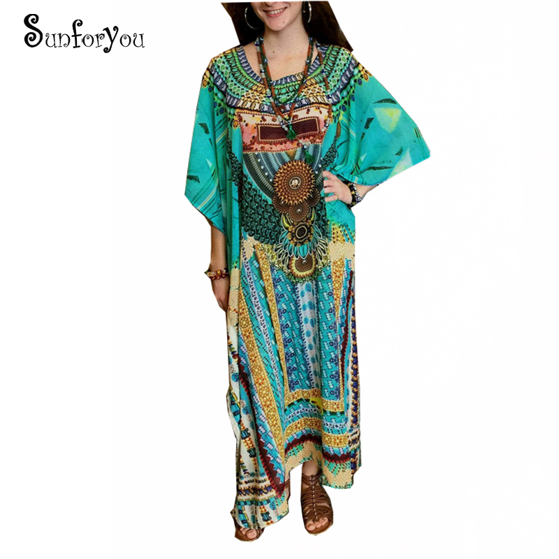 Print Cotton Plus Size Beach Dress Sarong 2019 Sarong Beach Cover Up Women Tunic Robe De Plage Swimsuit Cover Up Beachwear