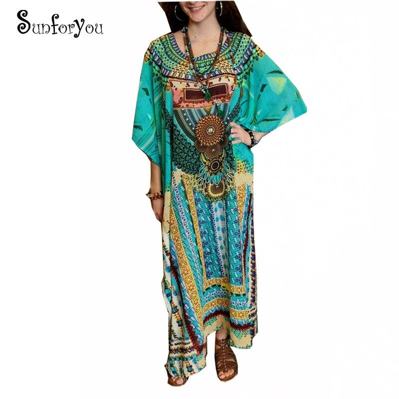 Print Cotton Plus Size Beach Dress Sarong 2020 Sarong Beach Cover Up Women Tunic Robe De Plage Swimsuit Cover Up Beachwear