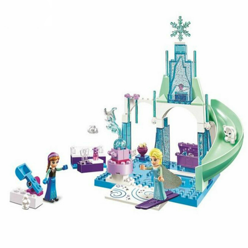 10665 Snow Queen Bricks Arendelle Ice Castle Building Blocks Princess Anna Elsa Playground Compatible with Legoe Princess jg303 building blocks arendelle castle princess anna elsa buildable snow queen figures sy371 with blocks kids toys gift page 8