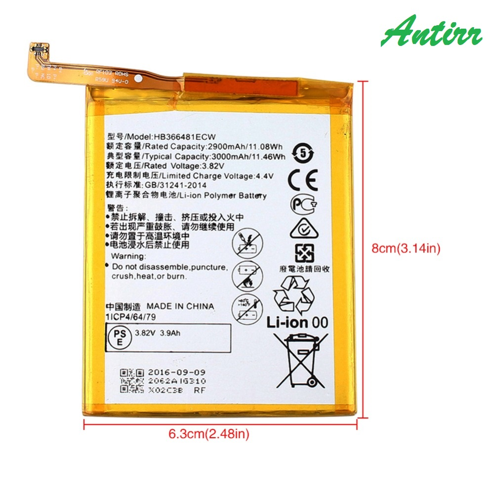 Para Huawei P9 HB366481ECW Da Bateria de Alta Qualidade 2900 mAh substituição Bateria De Backup para Huawei P9 Smartphone em Estoque + ferramentas #20