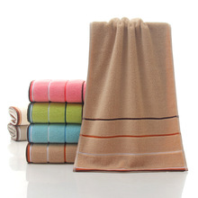 33x73cm Striped Cotton Adult Towel Hand Wholesale Home Cleaning Face for Baby Kids High Quality Bath Set 6colors
