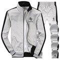 Men Tracksuit Sets Mens Sportswear Fashion  Brand Jogger Sweat Suit Jacket + Pants Hoodies Sweatshirt Chandal Hombre