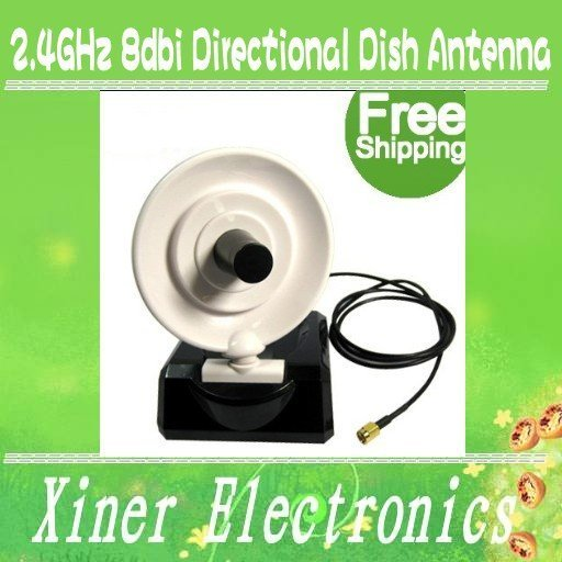 NEW Free Shipping 2.4GHz 8dbi Directional Dish Antenna For WIFI Wireless Wholesale/Retail
