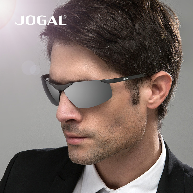 JOGAL Aluminum Magnesium Polarized Brand Fashion Sun Glasses Color Coating Mirror Sunglasses Male Oculos masculino For Men Women