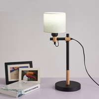 Nordic table light creative office desk lamp decorative lamp bedroom bedside wood+iron decorations MZ18
