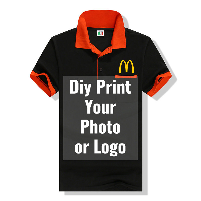 Group Team   Polo   Shirts Custom Printed Photo/Logo Work Clothes For Men and Women Customized Uniform   Polos   Casual Cotton Tops Tees
