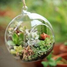 O.RoseLif бренд крошечные горячие прозрачные стеклянные шары с 1 отверстием цветок подвесная гидропонная ваза домашний офисный, Свадебный декор