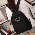 Personality battery fashionable design oxford women backpack college student school book bag couple's  leisure backpack