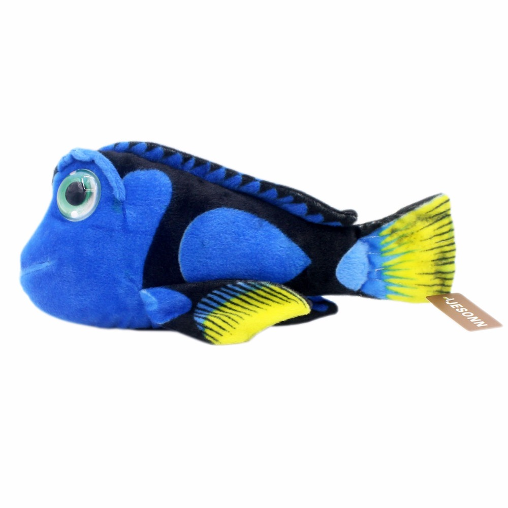 JESONN Realistic Stuffed Marine Animals Plush Paracanthurus Hepatus Leksaker för barns födelsedagspresenter, 39 CM