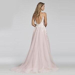 Image 2 - LORIE UNA Linea di Pizzo Abito Da Sposa 2018 Vestido De Noiva Princesa Abito Da Sposa Sexy Backless Puffy Tulle Abiti Da Sposa