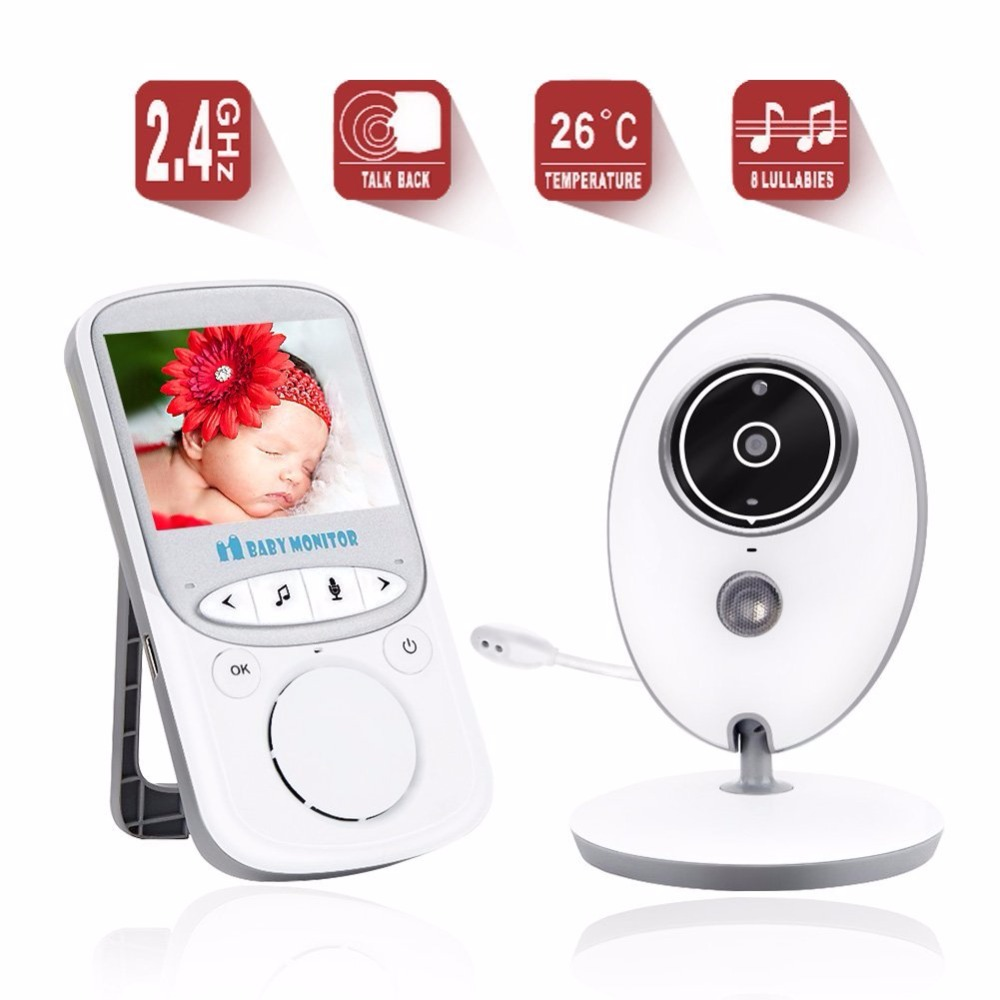 babykam baby camera baba eletronica nanny 2.4 inch baby cam IR Night Vision Intercom Lullaby Temperature monitor babyphone nanny