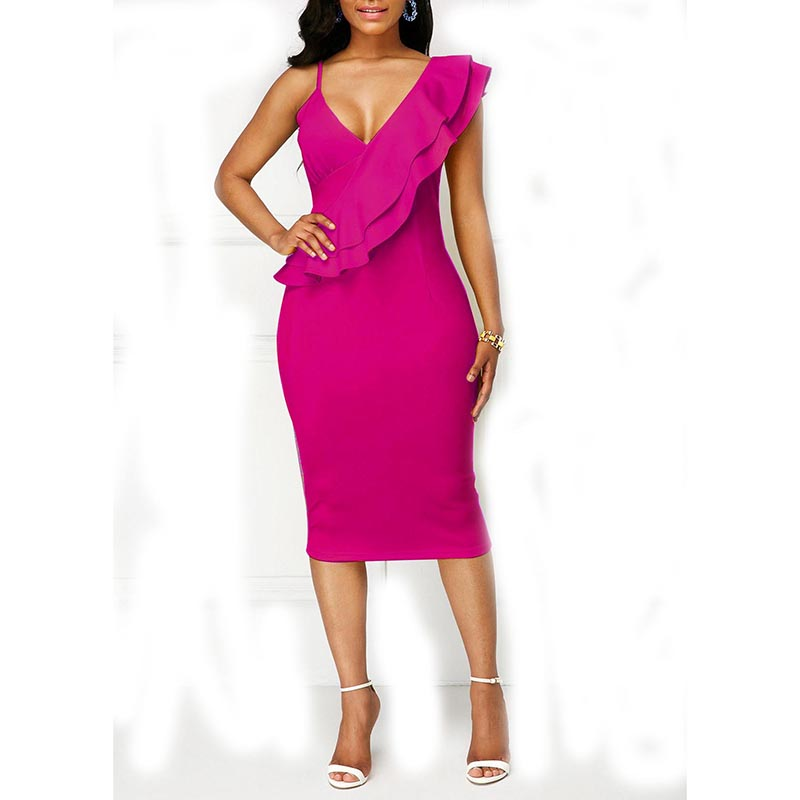Usa skinny girl in dress on bodycon dress cheap made