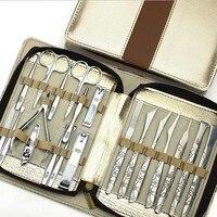 20 stücke Nagelknipser Kit Nagelpflege Set Nagelschere Pinzette Messer ohr-auswahl Dienstprogramm Maniküre-set Werkzeuge Kostenloser Versand