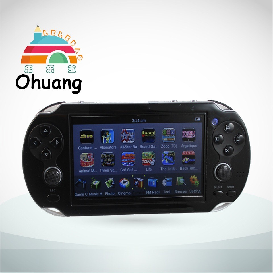 Quality 32BIT 4.3'' Mp3, MP4, MP5, PXP Video Game Console with Camera, TV Output, 500+ Games