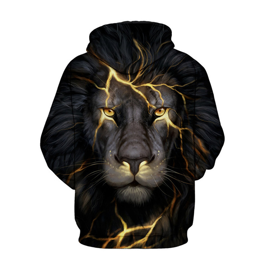 Wolf Printed Hoodies Men 3D Hoodies Brand Sweatshirts Boy Jackets Quality Pullover Fashion Tracksuits Animal Street wear Out Coat 23