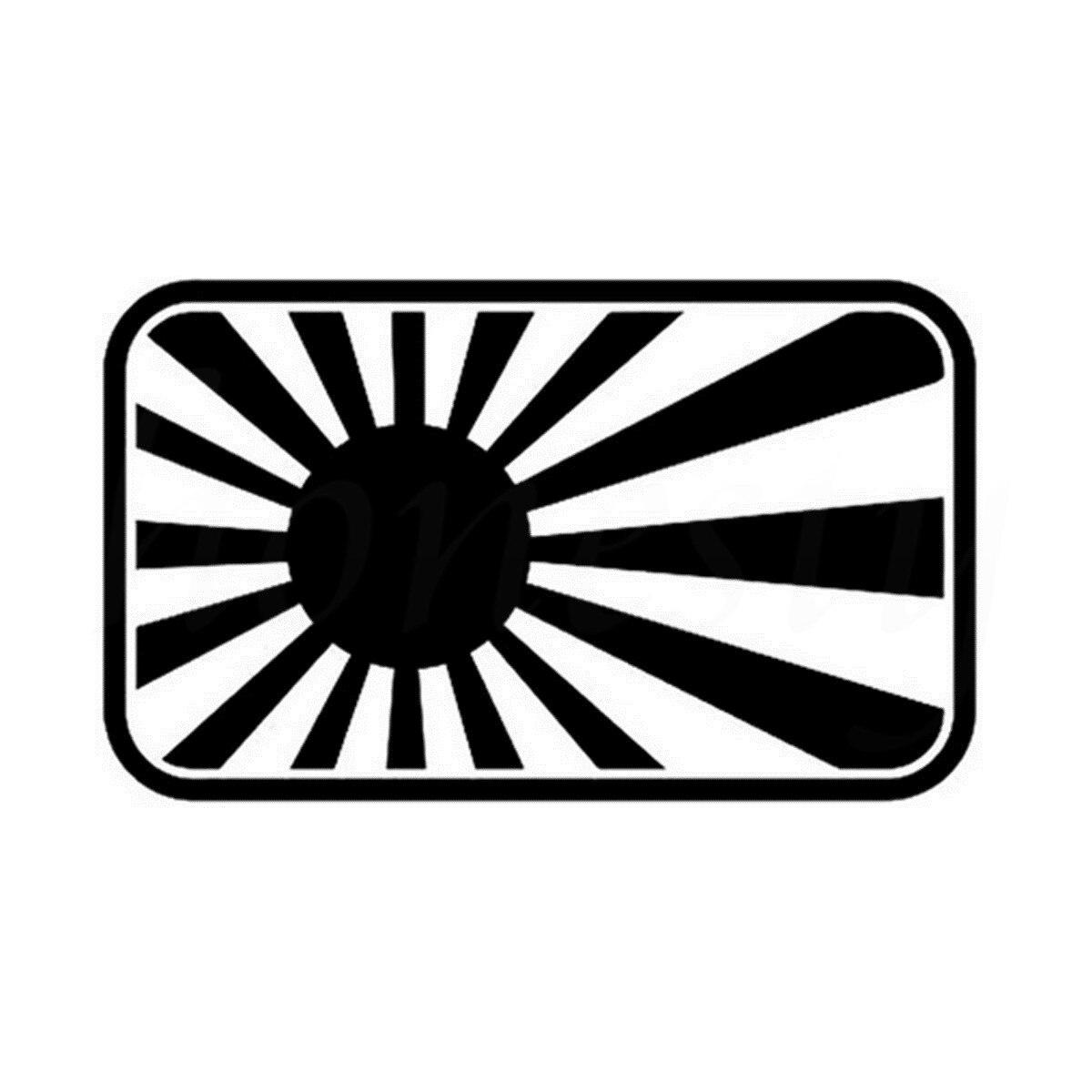 JDM японский флаг автомобиля Стикеры стены дома Стекло окна, двери ноутбука авто грузовик бампер Ван Виниловые наклейки Черный 18.0 см x 10.9 см