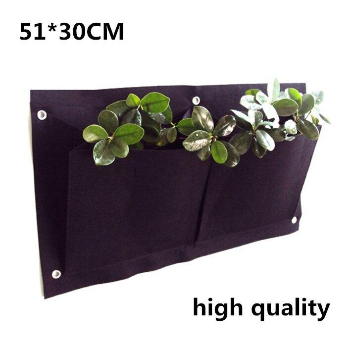 Κάθετη τοίχο από πολυεστέρα τοίχο φύτευση τσάντες λουλούδι αυξάνεται τσάντα Ζώντας Εσωτερική τοίχο τσάντες κήπο 30 * 54cm