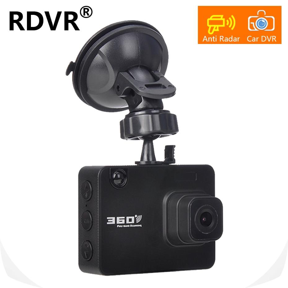 100% 2019 New 2 in 1 Car dash cam dvr antiradar speed car dvr camera radar detector Russian And English factory price