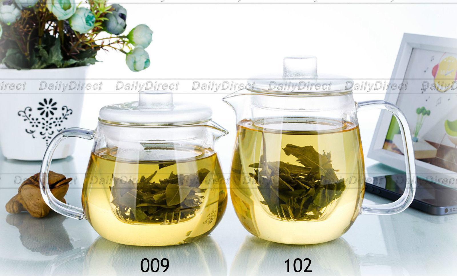 1pc 17 fl.oz 500ml / 18.6 fl.oz 550ml Heat Resistant <font><b>Glass</b></font> Teapot with <font><b>Glass</b></font> infuser w/ Lid