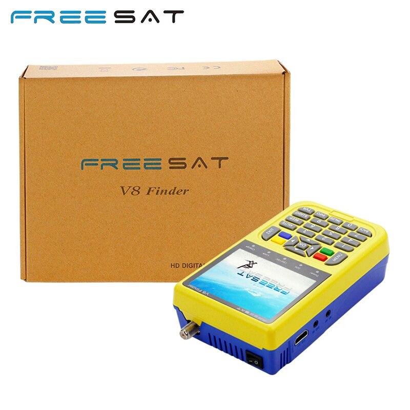 Satellite Finder Meter Freesat V8 Finder 3.5 LCD & V8 Finder BT01 DVB-S2 Satellite Receiver Mini Bluetooth DVB S2 SatFinder alilo медиаплеер классный зайка v8 c bluetooth