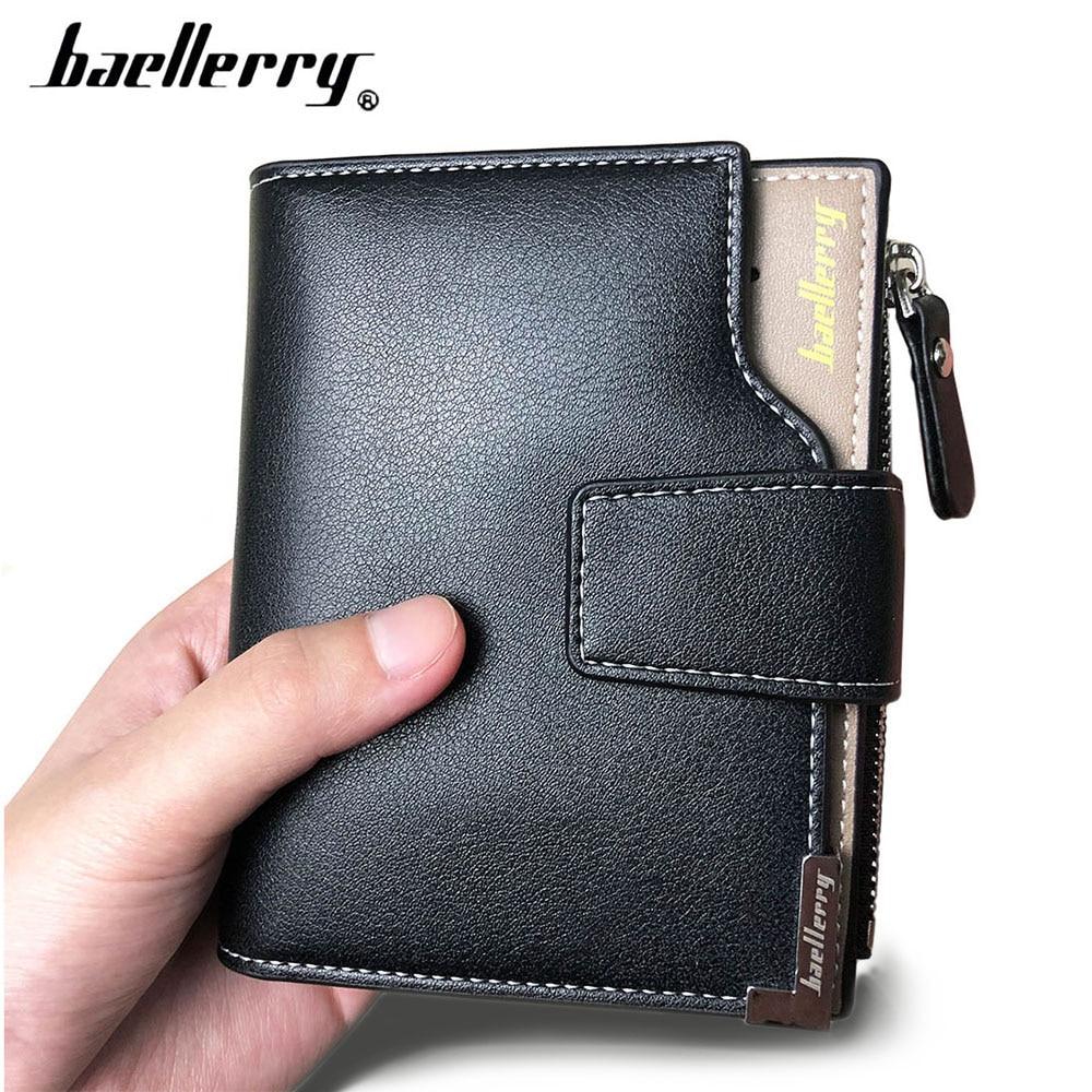 2019 Baellerry Business Men Wallets PU Leather Short Zipper Card Photo Holder Style Casual Male Wallets Luxury Men Purses