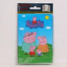 Europe Cartoon Style 2D Passport Holder PVC  Passport Cover Case For Travel,14*9.6cm Card & ID Holders Mini Order 1pcs-Peppa Pig
