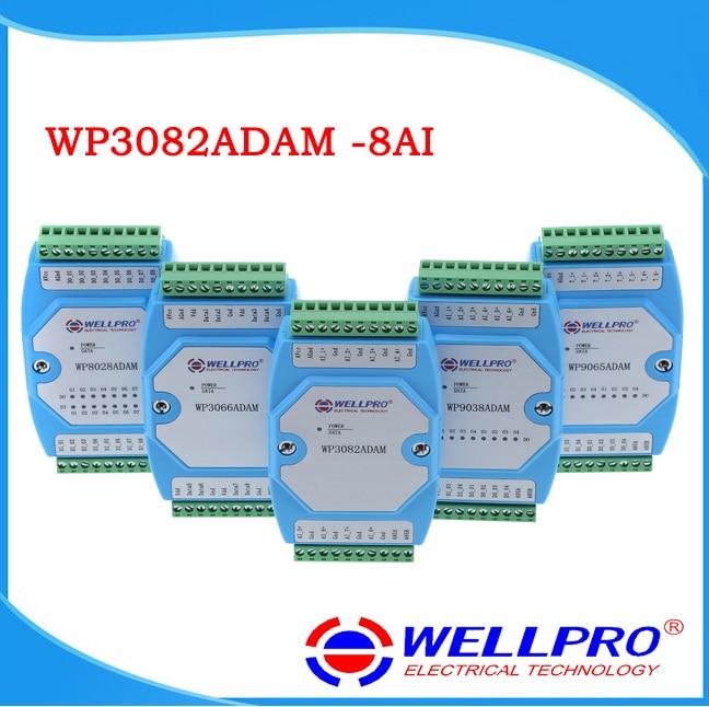 WP3082ADAM 8AI 0 20MA 4 20MA analog input module RS485 MODBUS RTU communications