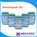 WP3082ADAM (8AI) _ 0-20MA/4-20MA аналоговый модуль ввода/RS485 MODBUS RTU связи